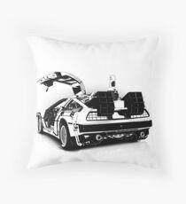 Delorean Vector Throw Pillow