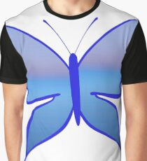 Blue butterfly Graphic T-Shirt