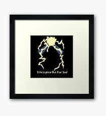 It's Lights Out For You - Spark Man Framed Print