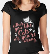 Cute I Like Cats  Women's Fitted Scoop T-Shirt