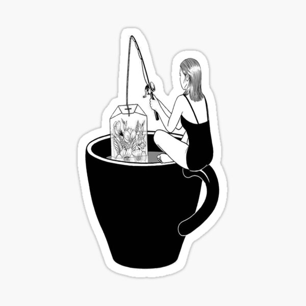 Tea Fishing Sticker