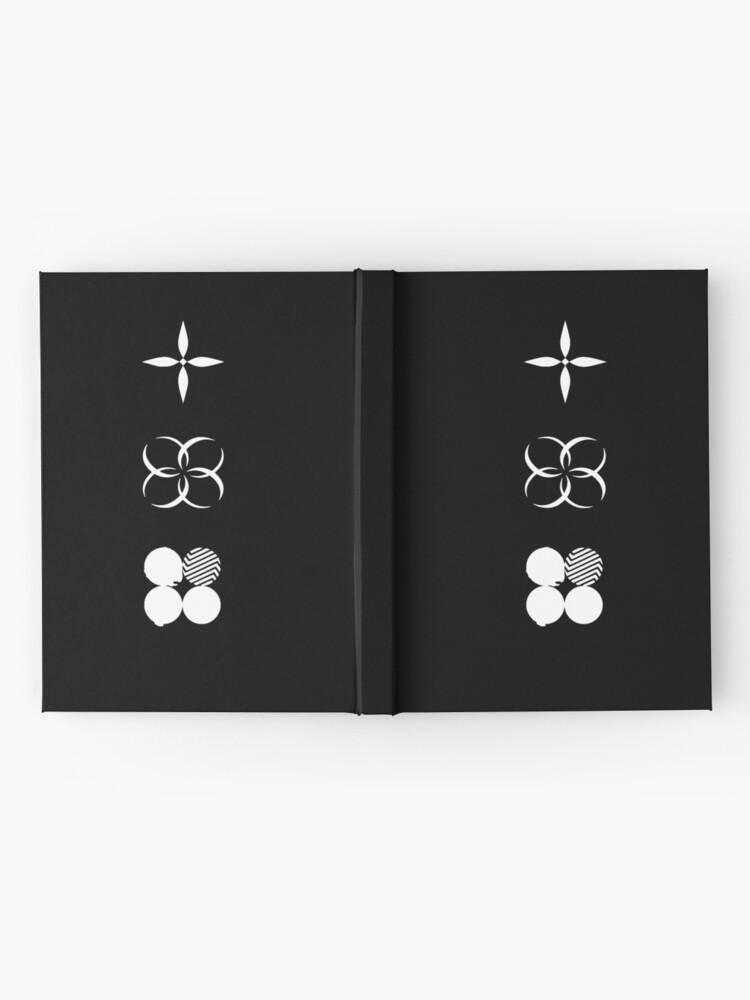 Vista alternativa de Cuaderno de tapa dura BTS - Logotipos de alas - Blanco