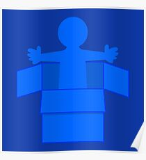 Man in a blue box Poster