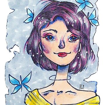 Galactic Butterfly Girl by IGYdesigns