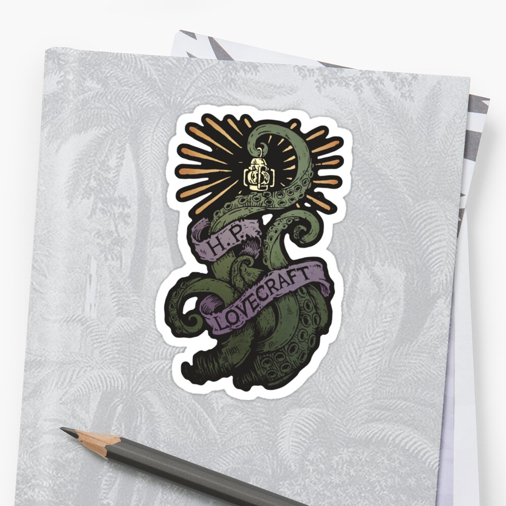 HP LOVECRAFT Tentakel Sticker