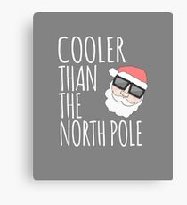 Funny Cool Santa Claus Sunglasses Apparel Christmas T Shirt Canvas Print