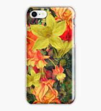 Deep Greens - Cool Girly Floral Pattern iPhone Case/Skin