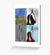 Four you a wishbone Greeting Card