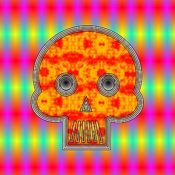 Colorful Robot Skull by Almdrs