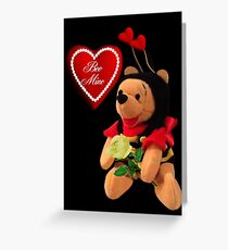 BEE MINE VALENTINES CARD AND PICTURE Greeting Card