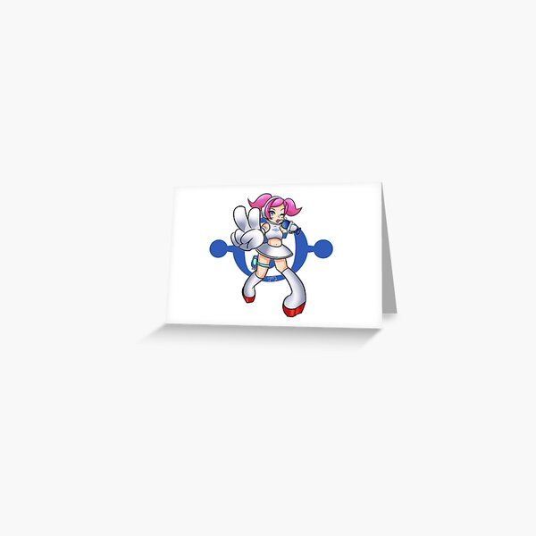 Space Channel 5 - Ulala Silver Greeting Card