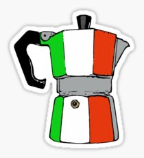 italian coffeepot Sticker