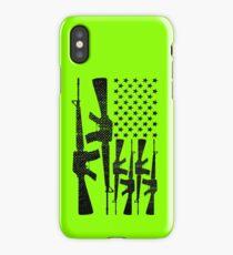 AR-15 2nd Amendment Gun Rights American Flag iPhone Case/Skin