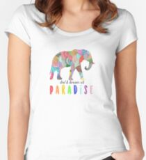 Paradise - Coldplay Women's Fitted Scoop T-Shirt