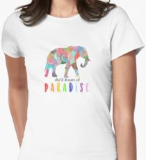 Paradise - Coldplay Women's Fitted T-Shirt