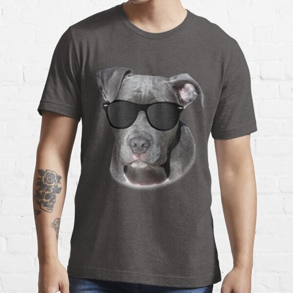 Cool Pitbull with Sunglasses - American Pit Bull Gift Essential T-Shirt