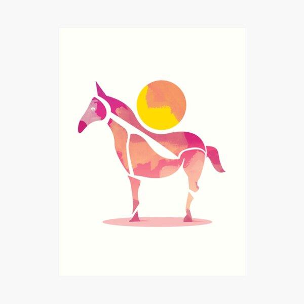 The Horse and The Sun by Judy Kaufmann Lámina artística