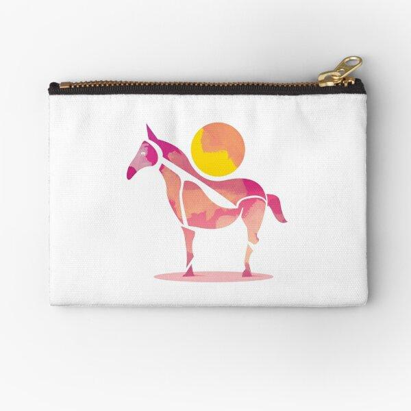 The Horse and The Sun by Judy Kaufmann Zipper Pouch