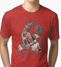 Koi Dragon Tri-blend T-Shirt