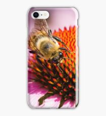 Bumble Bee Circling Flower iPhone Case/Skin
