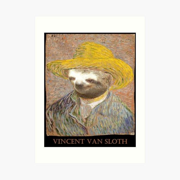 Vincent Van Sloth - Lost Art Art Print