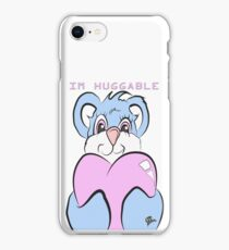 IM HUGGABLE TEDDY BEAR BABY BLUE AND PINK  iPhone Case/Skin