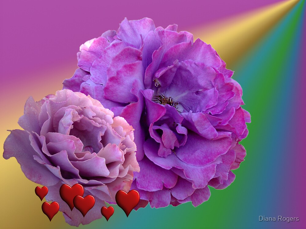 Roses and Hearts by Diana Rogers
