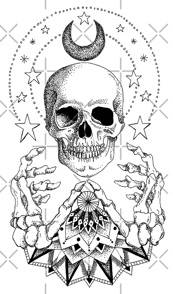 Power Skull Mandala by georgiamason