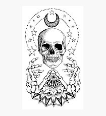 Power Skull Mandala Photographic Print