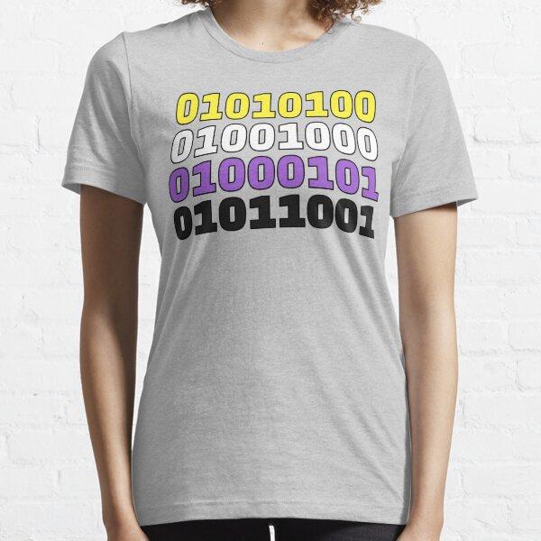 Non-Binary Binary Code (THEY) Essential T-Shirt