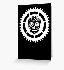 Skull and Chainring Greeting Card