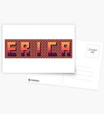 Decorative name ERICA - Name sign 4 Postcards