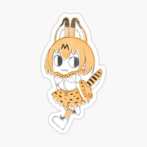 An Energetic Little Cat - Serval-chan! Sticker
