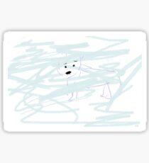 Polar Bear lost in a snowstorm Sticker
