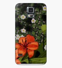 Orange Flowers Case/Skin for Samsung Galaxy