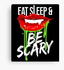 Be Scary - Halloween Canvas Print