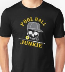 Funny Billiard Tshirt Pool Hall Junkie  Unisex T-Shirt