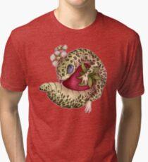 Lizard loves fruit Tri-blend T-Shirt