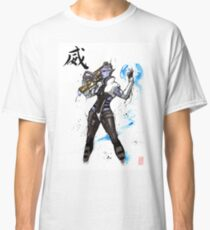 Aria from Mass Effect sumi and watercolor style Classic T-Shirt