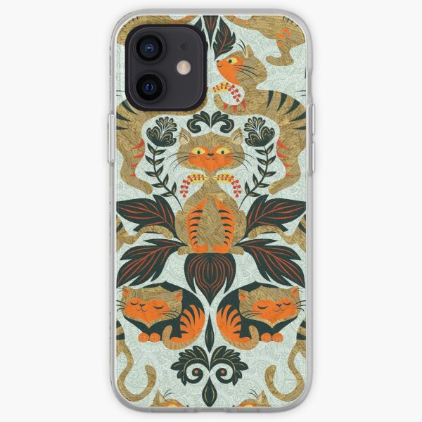 Damask cats iPhone Soft Case
