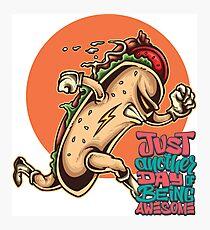 Hot Dog Hero / Foodietoon Photographic Print