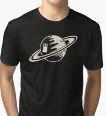 Tardis and Saturn Tri-blend T-Shirt