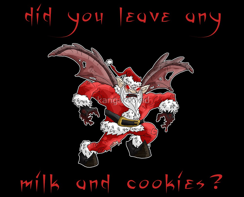 did you leave any milk and cookies? by kangarookid