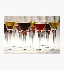 Alcoholic drinks in goblets Photographic Print
