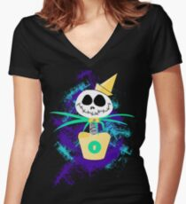 Jack Springloaded (Want Fries With That?) Women's Fitted V-Neck T-Shirt