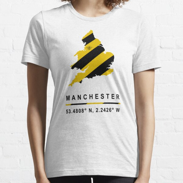 Manchester GPS Bee Map Essential T-Shirt