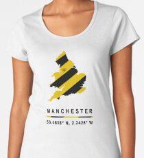 Manchester GPS Bee Map Women's Premium T-Shirt