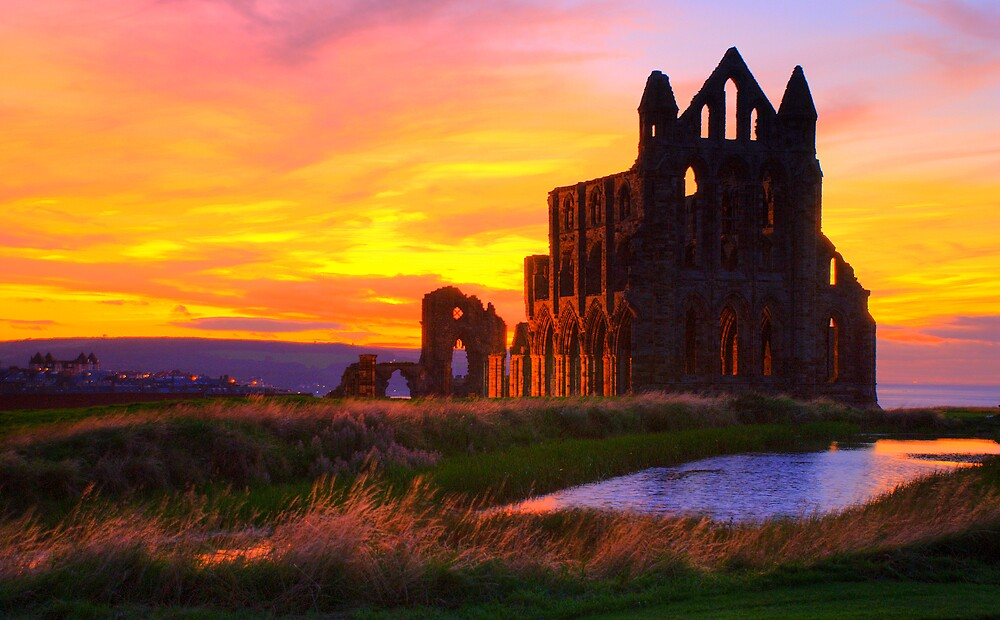 Abbey Sunset by pelfking
