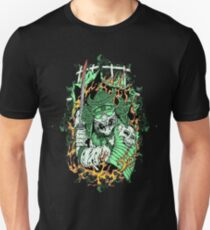 scary samurai with sword and skull T-Shirt