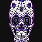 Cool Purple Sugar Skull by Julianco